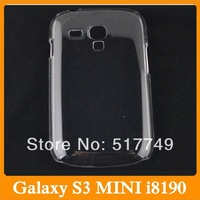 Ultra Thin Crystal Clear Snap-on Hard Transparent Case Cover For Samsung Galaxy S3 mini I8190 Free Shipping 20pcs/lot