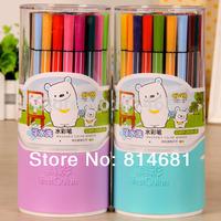 Hot Sale Truecolor 36 colors water wash water color pen 36pcs/box watercolor pens for Children and student
