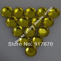 Hot fix crystal rhinestone SS10 Citrine 500gross/bag strass, lead beaded trim rhinestone chaton for dress