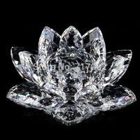 Free shipping 145mm k9 crystal lotus flower wedding decoration gift