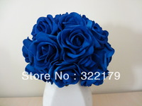 100X Artificial Flowers Royal Blue Roses For Bridal Bouquet Wedding Bouquet Wedding Decor Arrangement Centerpiece Wholesale Lots