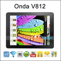 "In Stock Onda V812 8"" IPS Boxchip A31 Quad Core 1024x768 pixel Tablet Android 4.1.1 2G/ 16G Dual Camera Wifi HDMI"