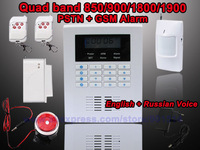 Russian and English Voice alarm systems security home gsm alarm system wireless Free shipping