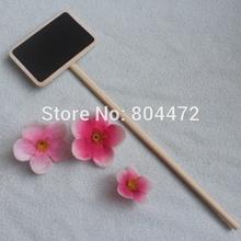 NEW Wood Blackboard Rectangle Plant / Herb / Vegetable Sign Gardon Craft Wholesale 100 pcs/lot(China (Mainland))