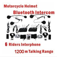 free shipping One Pair DK118-V6  1000m Motorcycle Helmet Bluetooth Intercom for 1000m 6 Riders Interphone