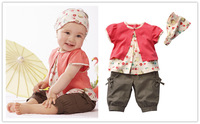 3 Pcs Baby Girls Fruits Pattern Top+Pants+Hat Set Outfits 0-3 Years Clothes XL045 Free shipping & Drop shipping DS6