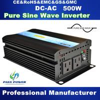 Profession Manufacturer 12/24v DC to 220v AC Off-Grid Pure Sine Wave Inverter 500W