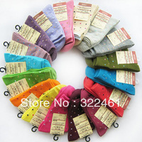 New 2014 10pr/lot free shipping 100% cotton 10pairs/lot casual socks lady sock girl socks color sending by random