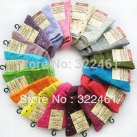 2015 free shipping cotton 5pairs/lot casual socks lady sock girl socks color sending by random