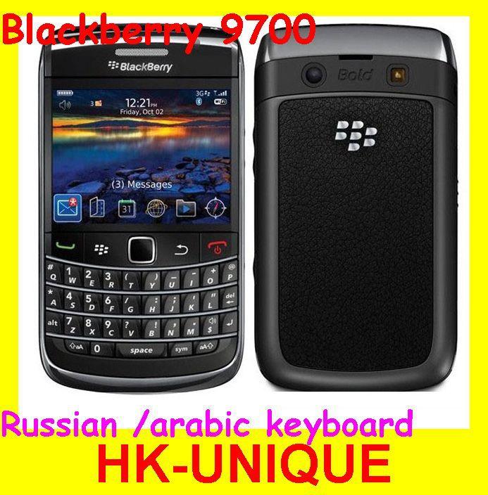 100% Original unlocked Blackberry Bold 9700 GPS wifi 3.15MP camera Arabic Ru