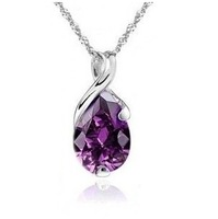 2013 New arrival 925 sterling silver & high quality zircon & platinum plated female crystal pendants jewelry wholesale