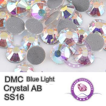 DMC Transfer Stones Blue Light AB SS16 Crystal AB Hotfix Rhinestones
