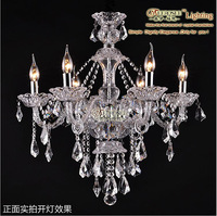 2014 Sale New Ccc Ce Ul Crystal Chandeliers Free Shipping Clear Crystal Light Hotel Decoration With 6 Arms Md8221c-l6 D600mm
