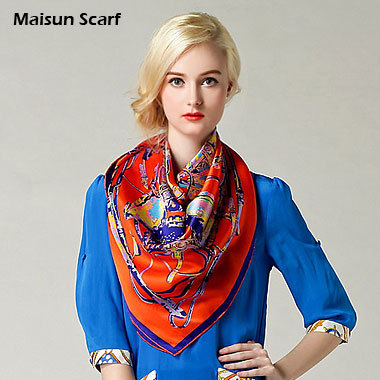 100 Silk Crepe Satin Plain Large Square Scarves 12mm 90 x 90cm fashion scarf(China (Mainland))