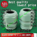 (best quality-lowest price)PG9 lengthen plastic nylon waterproof cable glands,material UL approved,IP68.CE.ROHS (PG M  G NPT MG)
