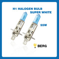 Free Shipping Auto Halogen Bulb H1  Super White 55W 4300K 2PCS