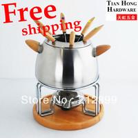 TianHong Free shipping stainless steel Chocolate fondue cheese fondue