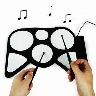 USB Roll-Up jazz Drum Kit - Cool Gadget fold electronic drum set child toy chrismas gift P2
