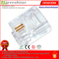 high quality! free shipping,RJ11 2 core telephone crystal head RJ11 two core line crystal first six p2c crystal head(China (Mainland))