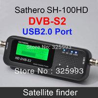 Free Shipping! SATHERO SH-100HD DVB S2 Satellite Finder Digital Satellite Finder&Meter LCD Display USB 2.0