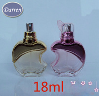 Wholeslae Mxi Order 20pcs/lot 20ml Apple Glass Perfume Atomizer  Bottles Travel Small Empty Spray Bottle