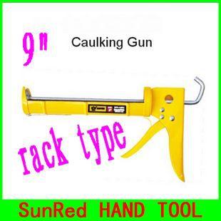 SunRed BESTIR top 20 quality hand tool Building Decoration open style rack type Adhesive caulk gun with yellow handle,NO.14501(China (Mainland))