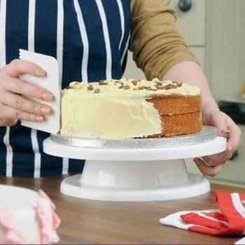 "Pro 11"" Rotating Revolving Cake Sugarcraft Turntable Decorating Stand Platform #23500"