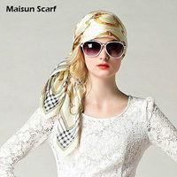 Fashion Women Silk Designer Hijab 85x85cm 10mm Pure Silk Crepe Satin Square Scarves For Women