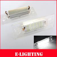 2 PCS Error Free White LED Number Plate Lights for VW Touran ,Passat 5D 06-08, Jetta, Syncro, Caddy, Golf Plus, Transporter