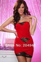 Fashion sexy party mini dress clubbing wear new folds shoulder sleeveless ladies dresses women clubwear rose white black YH5404