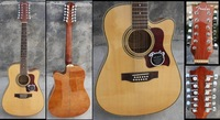 12 string acoustic guitar with equalizer with LCD Tuner