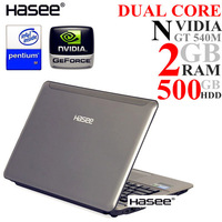 "Free Shipping Hasee 14"" with Intel Pentium Laptop Dual Core B950 2.1GHz 500GB HDMI DVDRW WIN7"