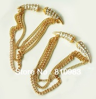 New arrival fashion sparkling spike tassel gold earring FREE SHIPPING