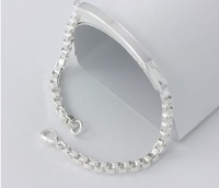 Free Shipping Newest Hot 2013 Valentines Gift Romantic Lovers Fine Silver Bracelet,Female Fashion 999 Silver Bracelet VG10001