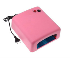 Free shipping. 36W Pink Nail Art UV Gel Curing Lamp Dryer Light UV lampEU PLUG(China (Mainland))