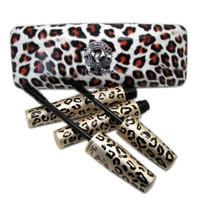 6 Set LOVE ALPHA Brand Transplanting Gel Fiber Mascara Set with Leopard Print Case