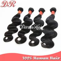 6A Peruvian Virgin Hair Body Wave,4pcs/Lot Cheap Human Hair Weave Wavy Natural Black Hair Bundles,Remy Human Hair Extension