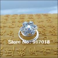Wholesale 12pcs Lot 10mm Crystal Rhinestone Flower Hair Twists Spirals Pins Wedding Jewelry Hair Accessories Free Shipping