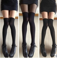 Perfect patchwork thigh socks pantyhose  over-the-knee socks female