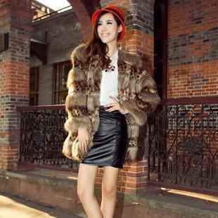 women fashion leopard print faux fur coat ladies' short design slim faux fox fur jacket Free shipping EMS TF0309