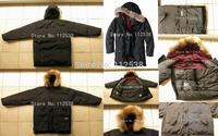 Wholesale Woolrich Men's Arctic Parka Black Beige Brown Color Men Winter Overcoat Down Parkas Fur Hooded Big Size