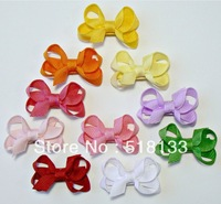 Free Shipping 100PCS Baby Girls Ribbon Hair Bows,Infant Toddler Hair Accessories,Mini Bows With Clips, Sculpture Kids Hair Clips