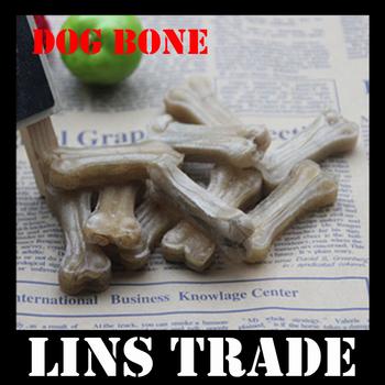 "Free shipping New 20PCS 2.5"" inch pet dog snacks molars rod leather pressing bone toys dog chews #8148"