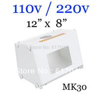 "15pcs lot  photo box light 12""x8"" Portable photography studio with lamp light softbox flash MK30 fast shipping"