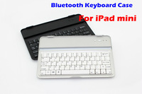 Wireless Bluetooth Keyboard for I PAD mini  with Ultra Slim Aluminum Hard cover case  free shipping