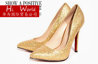Free shipping 2013 new arrive Fashion high fine with pointed toe shining women's shoes wedding high-heeled shoes