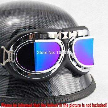 WWII Military Army German RAF Pilot Aviator Style Split Lenses Sun UV Protect Wind Goggles BMX ATV Bike Motorcycle Biker Gear