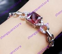 Jewellery fashion zircon women's 14KT white Gold Filled Bracelets gift B007 Zircon bracelets