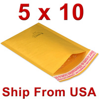 "UPS Free shiping (300+60)pcs/case #00 5x10 [102mm""x204mm""] KRAFT BUBBLE MAILERS PADDED MAILING ENVELOPE BAG SHIPPING SUPPLY"