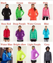 2013 Hot Selling Yoga Brand- Lululemon Black Scuba Hoodie Lulu lemon Hoodies, Aavailable size: 4,6,8,10,12 Free Shipping,(China (Mainland))